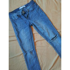 RSQ Miami Jegging Knee Ripped Skinny Light Blue